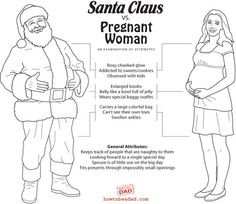 "Santa Claus vs. Pregnant woman - ""keeps track of people that are naughty to them... fits presents through impossibly small openings"""
