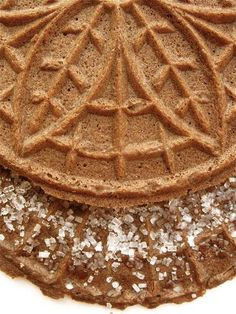 chocolate pizzelles!