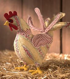 Have you ever felt that you NEEDED a free pattern to make yourself a softy-style rooster?    Well - now you've got one should you ever feel that need!