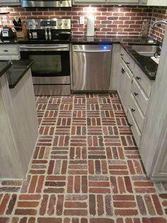 Thin Brick, Tile Floor, Kitchen Ideas, Flooring, Home, Ad Home, Tile Flooring, Wood Flooring, Homes