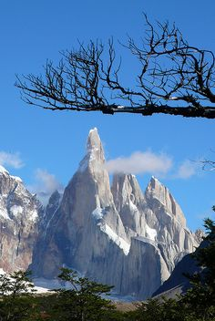 Cerro Torre, El Chaltén, Patagonia, Argentina (****See similar Pins of Cerro Torre and Laguna Torre throughout. Ushuaia, Wonderful Places, Beautiful Places, Beautiful Pictures, Argentine Buenos Aires, Places To Travel, Places To See, Travel Destinations, Cap Horn