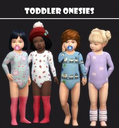 Simsworkshop: Toddlers Onesies 25 Swatches by maimouth • Sims 4 Downloads