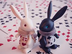 Black and White Rabbits by hiyogon.deviantart.com on @deviantART