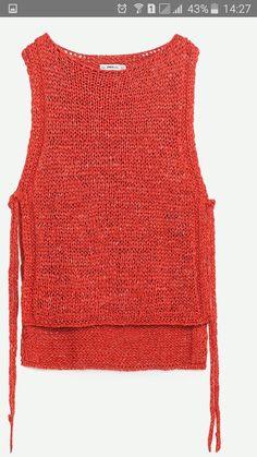 Summer Knitting, Easy Knitting, Knitting Stitches, Knitting Designs, Ärmelloser Pullover, Knit Vest, Knit Fashion, Diy Clothing, Crochet Clothes