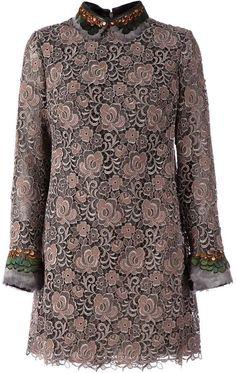 Valentino feather embellished lace dress on shopstyle.com