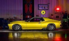 At this year's SEMA show,Ringbrothersonce again proved itself the king of this space, unveiling a wild, 1,100-hp 1972 AMC Javelin AMX. Thisrestomodhas Amc Javelin, My Dream Car, Dream Cars, International Scout Ii, Crate Motors, American Motors, Us Cars, Sport Cars, Lamborghini Huracan