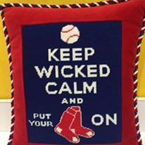 How about them Red Sox! Needlepoint, Wicked, Calm, Artwork, Handmade, Knitting, Red, Work Of Art, Hand Made