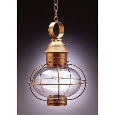Northeast Lantern Onion 1 Light Outdoor Hanging Lantern Finish: Raw Copper, Shade Type: Optic