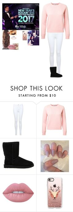 """""""Dick Clark's New Years Rockin Eve with Randy-Remi-"""" by riley-497 ❤ liked on Polyvore featuring Miss Selfridge, UGG Australia, Lime Crime and Casetify"""