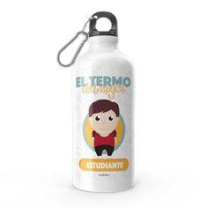 Termo - El termo del mejor estudiante, encuentra este producto en nuestra tienda online y personalízalo con un nombre. Water Bottle, Drinks, Student, Carton Box, Upcycling, Letters, Store, Studio, Drinking