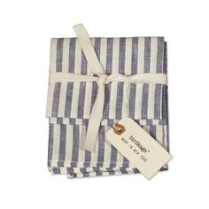 Our Tea Towels are sold in sets of two and are also very popular as napkins. The Montauk style is from our new Sand & Surf collection, and is made of 100% linen in a light blue & white cabana stripe with cream colored topstitching. They get softer and more absorbent with each wash, and […]