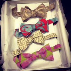 Fortuny bow ties #fashion #design #love