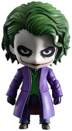From Good Smile Company. From the popular DC Comics film The Dark Knight comes a Nendoroid of The Joker based on the highly acclaimed version played by Heath Ledger. He is also the first ever villain from a live action film to join the Nendoroid world! His eccentric yet twisted face paint has been carefully shrunk down into Nendoroid size, and he comes with both a glaring expression and a twisted smiling expression.  #goodsmilecompany #actionfigure #TheDark Knight #Nendoroid #TheJoker