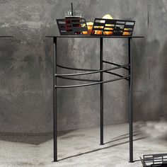 Slimline metal narrow side table Ariel by Cosatto