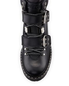 Breeze Flat Studded Leather Hiking Boot