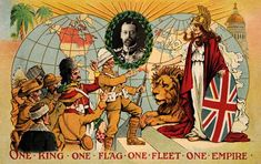A vintage colour illustration featuring King George V and representatives of the British Empire paying homage Patriotic Images, African Countries, Great British, World History, Historian, Historical Photos, Britain, Empire, Nostalgia