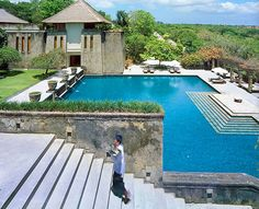 so this is a place where Ashton & Mila stay in? Bali Indonesia Luxury Resort Photo Album and Hotel Images - Amanusa - picture tour Luxury Beach Resorts, Hotels And Resorts, Beautiful Hotels, Beautiful Beaches, Vacation Places, Vacation Spots, Bungalow Resorts, Leading Hotels, Jimbaran