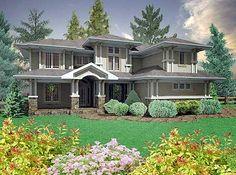 Plan W16050PN: Corner Lot, Prairie Style, Craftsman, Northwest House Plans & Home Designs
