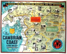The Cambrian Coast Dee Valley GWR Art Deco JP Sayer, 1930s - original vintage poster by J. P. Sayer listed on AntikBar.co.uk