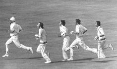 The joy of cricket: Bishen Singh Bedi, Pataudi, Chandrasekar, Anshuman Gaekwad and Vishwanath after the win against the West Indies in the 1974-75 series