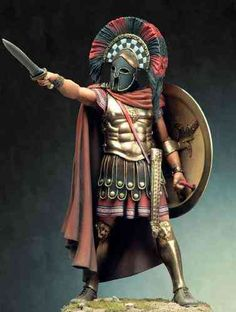 hoplite wearing a heroic cuirass and corinthian helmet, armed with a hoplon shield and a xiphos sword.Spartan hoplite wearing a heroic cuirass and corinthian helmet, armed with a hoplon shield and a xiphos sword. Fantasy Armor, Medieval Fantasy, Greek History, Ancient History, Ancient Rome, Ancient Greece, Roman Warriors, Spartan Warrior, Spartan Shield