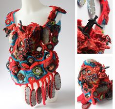 Emmanuelle Loison - Guerre, 2011 - wearable fibre art work