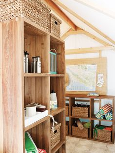 Cabin cubes | Create the storage you need with inspiration from these shelves for kitchen, living room, hall, garden, mudroom, bathroom, and more