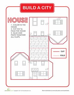 Worksheets: Build a City: House