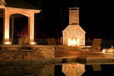 Dacula Stone Fireplace | by Innovative Outdoors LLC