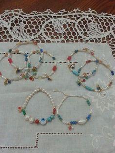 Tety mis creaciones, inspiraciones. Collares de caucho, chapa de oro, perlas, piedra natural.