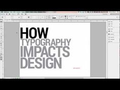 ▶ Graphic Design Tutorial: Typography and Design - YouTube watch the whole thing sometime...