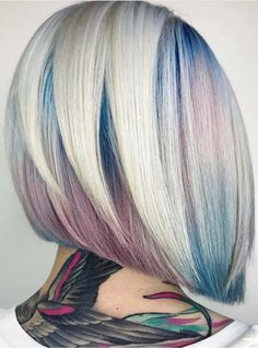 Looking for best bob cuts to flaunt right now? See here we have made a collection of blue and rose gold hair color trends for bob haircuts in 2018. These are amazing trends of hair colors for every woman to show off right now. You just have to visit this page for latest shades of blue and gold vivid hair colors.