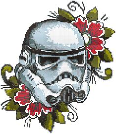 Star Wars cross stitch pattern. Boba Fett cross stitch pattern. Flower xstitch pattern. Birthday DIY gift. Baby boy room decor. No 301 This is a digital item. The PDF file of the pattern will be available for instant download once payment is confirmed. Instant Digital Download: in 5