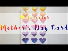 Watercolor Mother's Day Card Tutorial ►Laurart◄