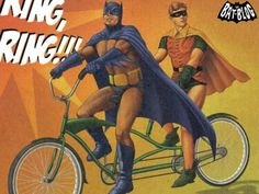 Batman and Robin Bike - Tandem Crusaders
