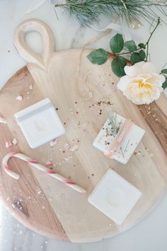 DIY Scented Christmas Soap.