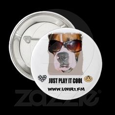 just play it cool UNIR1 BUTTON....  A GREAT LOOK FOR A GREAT RADIO STATION   http://www.zazzle.com/unir1_just_play_it_cool_button-145949147943350935