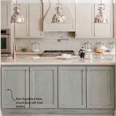 Plain white melamine kitchen goes coastal | Kitchen idea | Pinterest ...
