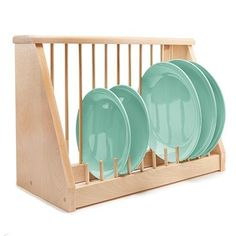 Keep your home tidy with the help of our affordable home storage solutions and organizational products at Collections Etc. Wooden Plate Rack, Diy Plate Rack, Plate Storage, Kitchen Rack, Kitchen Decor, Kitchen Ideas, Large Kitchen Sinks, Wood Storage Rack, Kitchen Helper