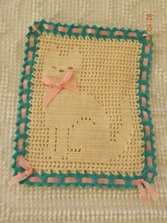 Filet Crochet Cat Doily / Wall Hanging by JNCEnterprises on Etsy