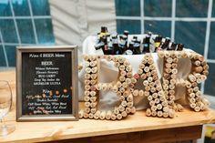 Photo: Anna Peters Photography; Pretty Chic Washington Wedding - wedding reception bar idea