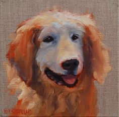 My Best Friend- Susan Westmoreland. 8 x 8. Oil on gallery wrapped linen. SOLD #dogs #doglovers