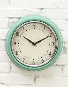 mid-century inspired metal wall clock