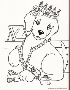 lisa frank coloring pages 2. Lisa Frank Coloring Page dog yellow lab golden retriever casey camus candy  jewels dress up crown Top 25 Free Printable Dog Pages Online Collection