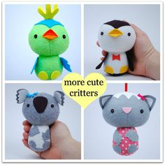 More Cute Critters  PDF Sewing Pattern for Easy to by whileshenaps, $9.00