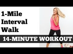 1 Mile Fast Interval Walk | Low Impact Indoor Power Walking Jogging Workout - YouTube  80 cal for me