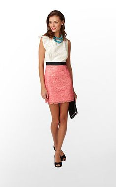 Delila Dress in Multi Race For This Lace Combo $278 (w/o 10/20/12) #lillypulitzer #fashion #style