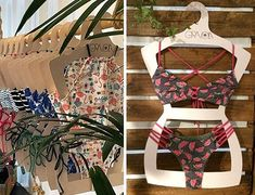Cabide silhueta feito com cartão rígido ecológico, personalizado com a marca do cliente Swimwear, Fashion, Personalized Hangers, High Waist Bikini, Silhouette, Packaging, Bikini Swimwear, Outfits, Frases