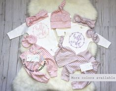 Twins Coming Home Outfit Newborn Outfit Baby Boy Outfit Baby Girls Twin Outfits . - LL Precious Creations (baby girl and baby boy clothes) - Newborn İdeas Twin Girls Outfits, Twin Baby Girls, New Baby Boys, Twin Babies, Baby Boy Outfits, Baby Baby, Baby Sleep, Twin Baby Clothes, Trendy Baby Boy Clothes