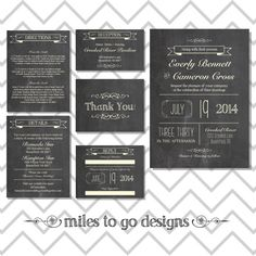 SUMMER SALE - DIY Printable Wedding Invitation: Rustic- The Everly